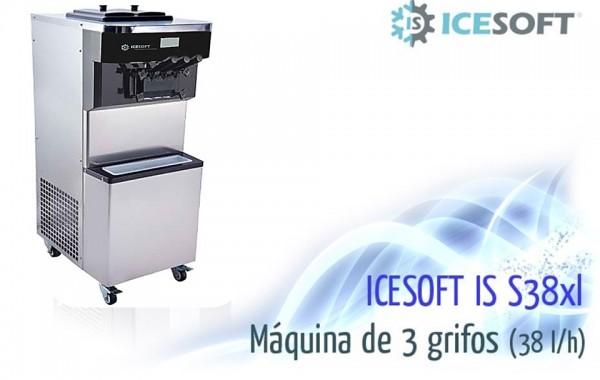 Máquina de helado IS-S38 XL (3 Grifos)