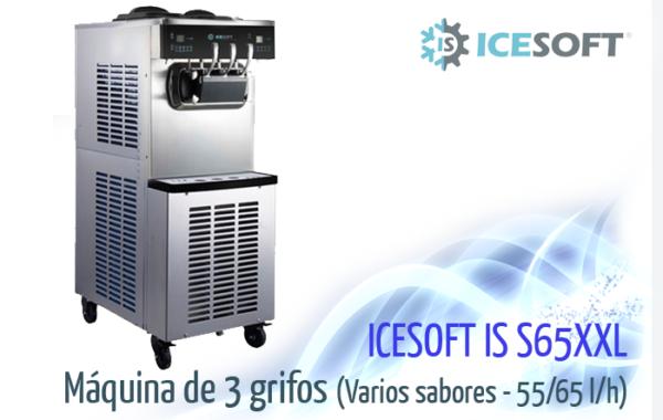 Máquina de helado IS-S65 XXL (3 Grifos) 2 compresores independientes