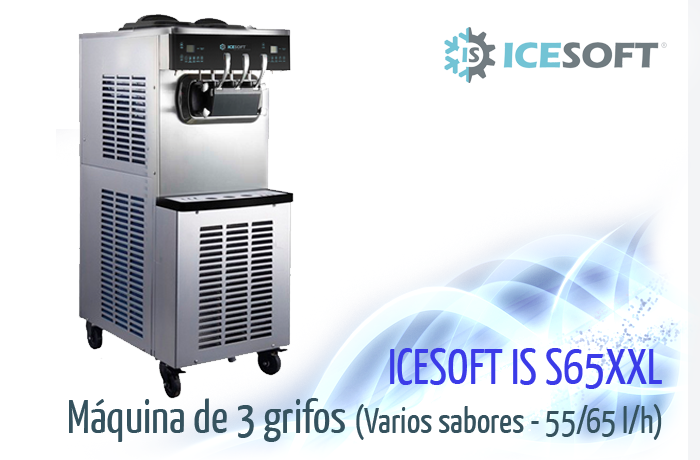 Máquina de helado IS-S65 XXL (3 Grifos) 2 compresores independientes