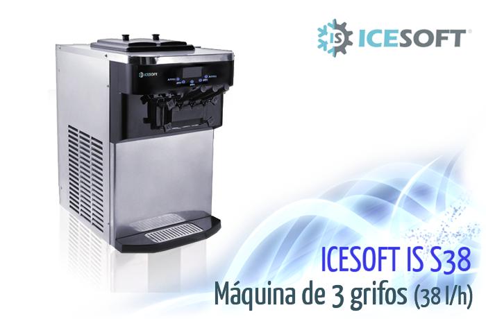 Máquina de helado IS-S38 (3 Grifos)