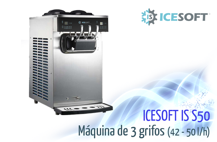 Máquina de helado IS-S50  (3 Grifos) 2 compresores independientes