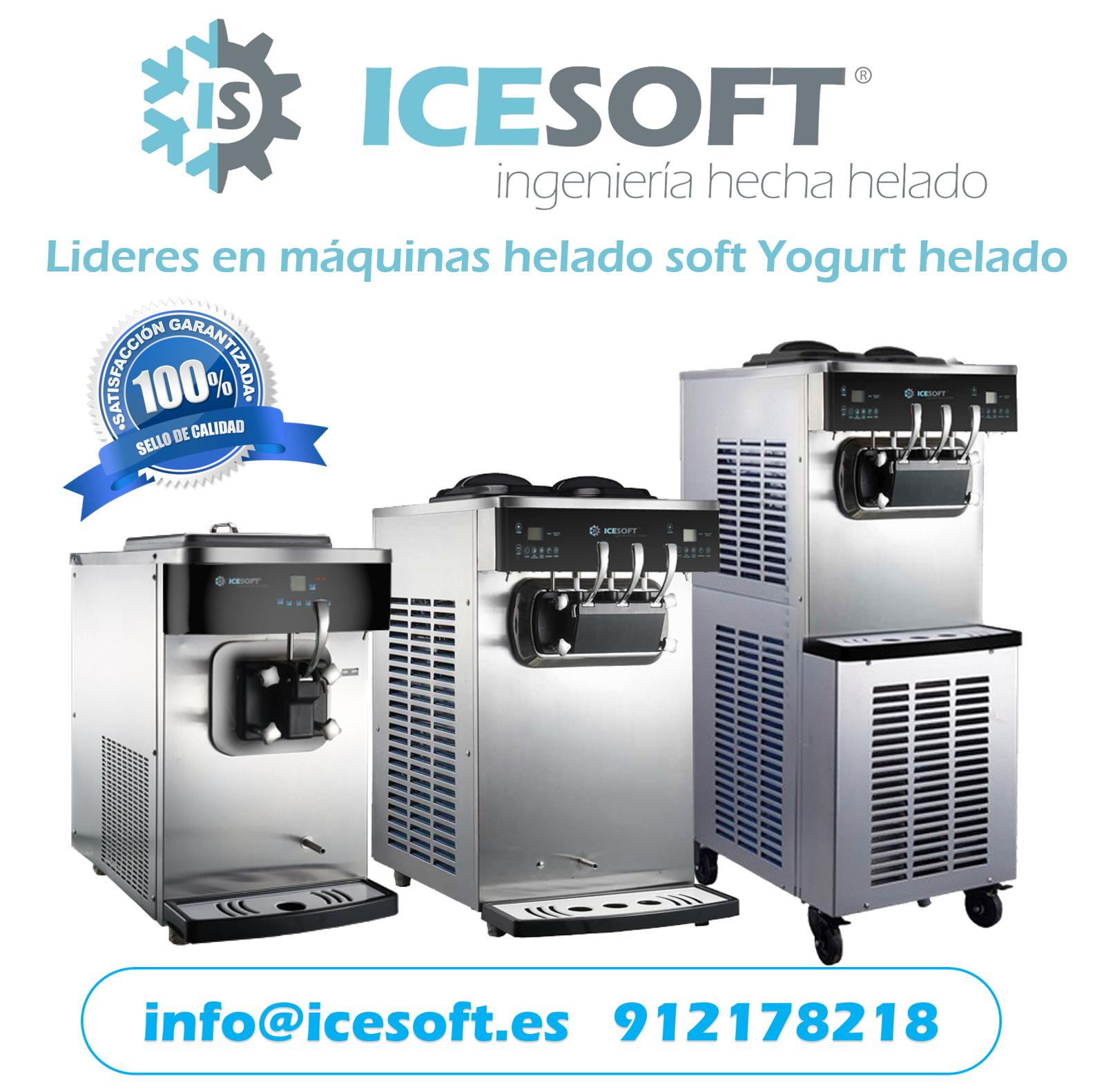 Lideres en máquinas de helado soft / yogurt helado