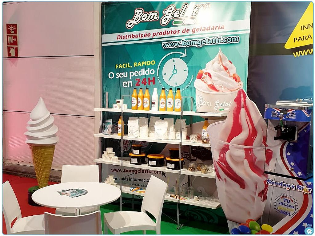 Feria Alimentaria & Horexpo Lisboa 2019. Producto Bom Gelatti