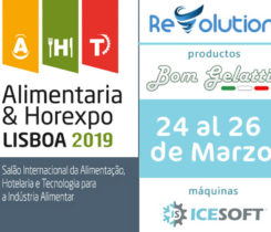 Feria Portugal Alimentaria 2019 con Maquinas de Helado