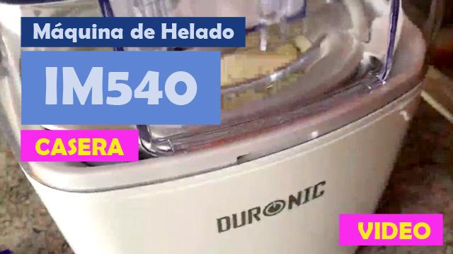 Video funcionamiento maquina de helado casera no industrial